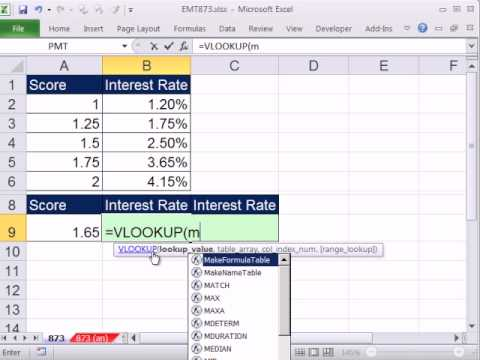 Excel Magic Trick 873: VLOOKUP - Lookup that rounds to the nearest number (Increment Equal)