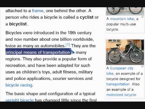 Learn English Reading Lesson #4 Bicycle