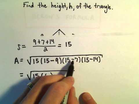 Heron's Formula, Ex 2