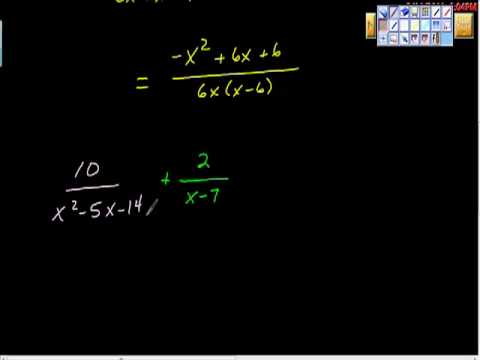 How to Add Rational Expressions Algebra II