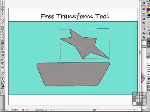 Illustrator Tutorial - The Amazing Free Transform tool