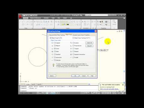AutoCAD Tutorial - Using Object Snaps Part 1