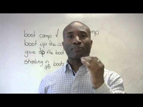 English Idioms - BOOT