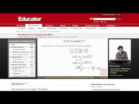 Pre-Calculus: Complex Numbers