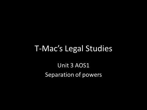 VCE Legal Studies - Unit 3 AOS1 - Parliament - Separation of power
