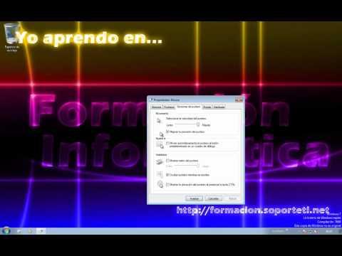 Curso de iniciación a Windows 7 - 21 - Configuracion del mouse o ratón