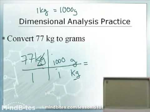 Chemistry 1.8: Dimensional Analysis Part 1