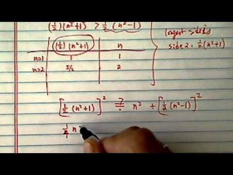 Algebra Pythagorean Right Triangle-  given 3 sides, is this a right triangle?