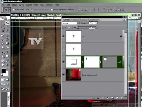 Photoshop for video: transparent  id logo