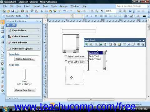 Publisher 2003 Tutorial Working with Form Controls Microsoft Training Lesson 10.2