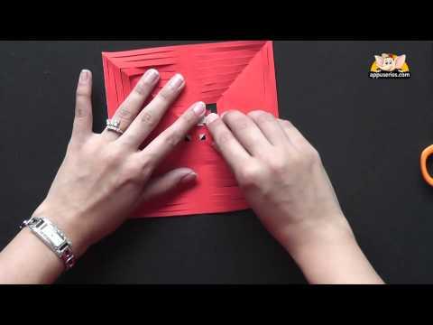 Make a Kirigami Square Window Design
