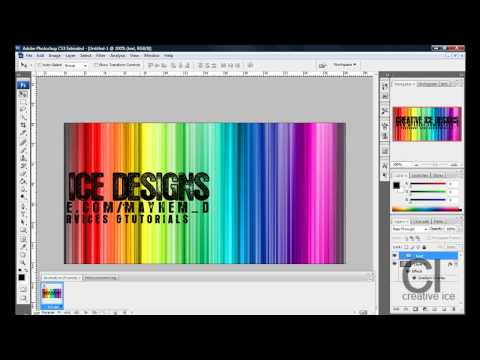 Photoshop CS3 / CS4: How to make an animated myspace banner