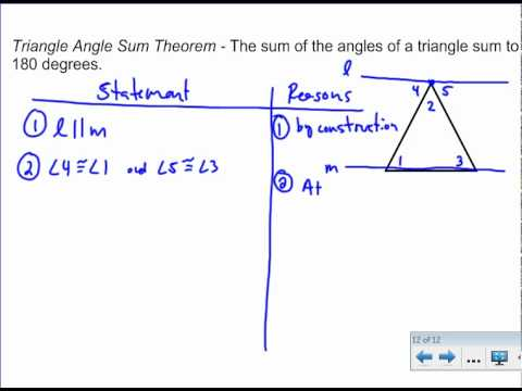 Triangle Angle Sum Theorem - Proof