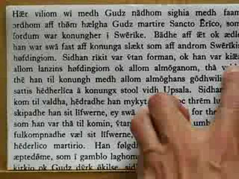 Old Swedish:  Languages of the World:  Introductory Overview