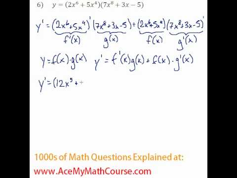 Derivatives - Product & Quotient Rule Question #6
