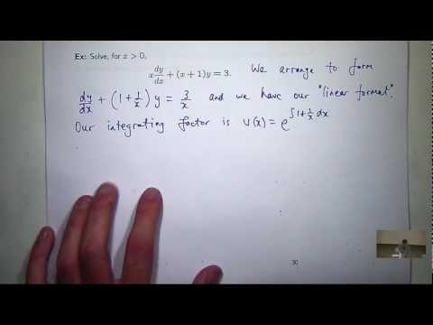 Linear differential equations, first order