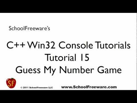 C++ Win32 Console Tutorial 15 - Guess My Number Game