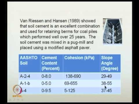 Mod-06 Lec-19 Ground treatment with cement