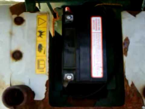 Restored a sulfated lawn mower battery to like new condition