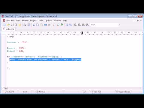 Beginner PHP Tutorial - 23 - Logical Operators
