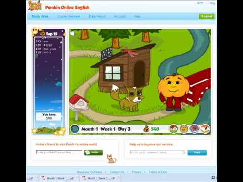 Pumkin Online English -  How to help your child learn English: Pumkin.com Website Navigation and Use