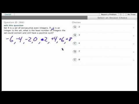 Grockit SAT Math - Multiple Choice: Question 2881