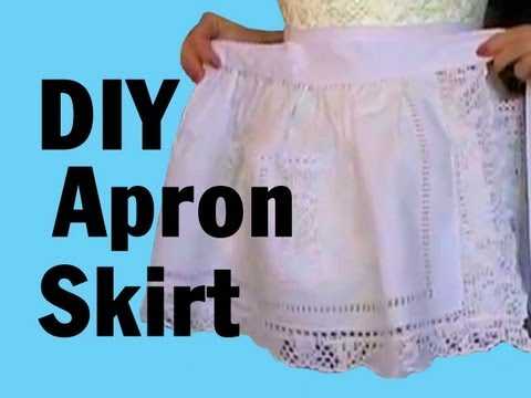 DIY Apron Skirt by Stitchless TV, Threadbanger How-to