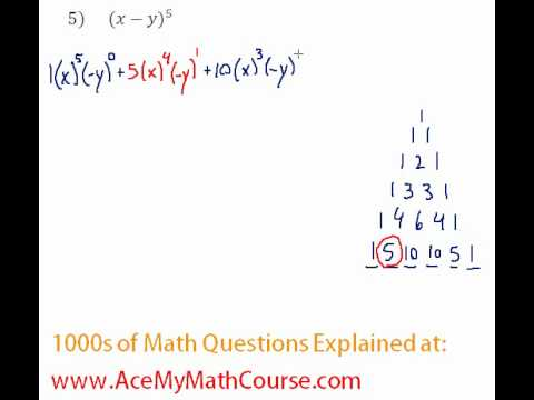 Binomial Theorem - Complete Expansion #5