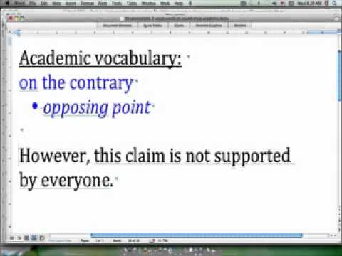 30 second IELTS - Academic vocabulary - 'on the contrary'