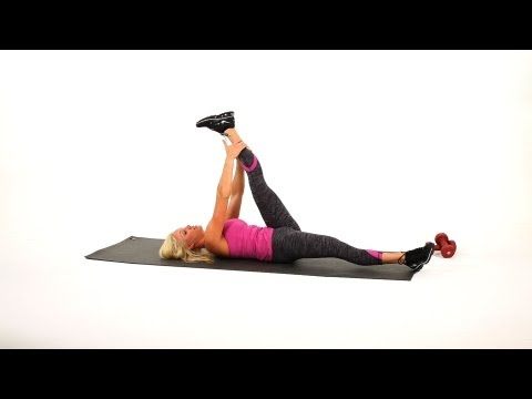 Leg Stretches: Lying Down Hamstring Stretch | Sexy Legs Workout