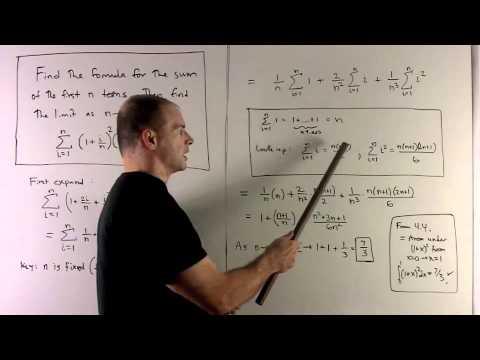 Limit Summation Formula