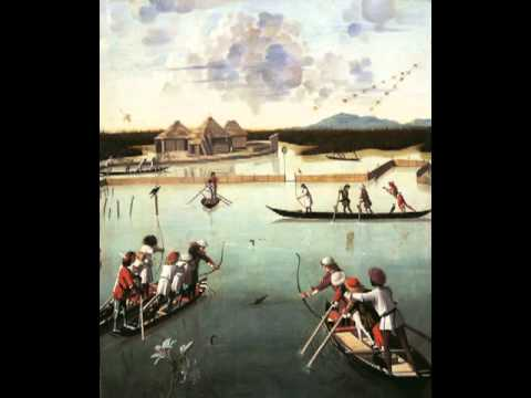 Hunting on the Lagoon (recto); Letter Rack (verso), Vittore Carpaccio