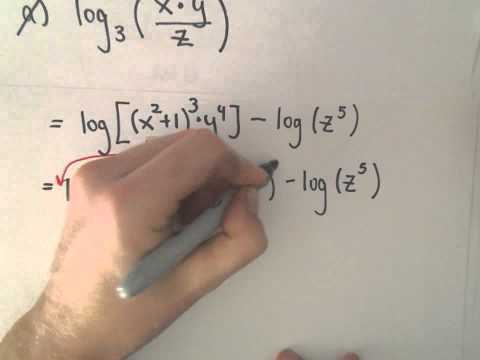 Logarithms : Expanding and Combining , Example 2