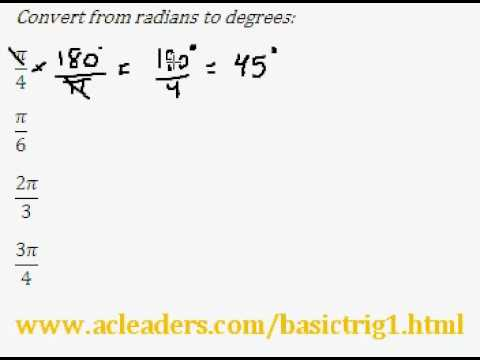 Introduction to Trigonometry (pt. 3) - converting radians to degrees