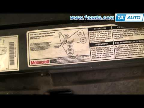 How To Install Replace Noisy Idler Pulley Ford Explorer 91-06 1AAuto.com