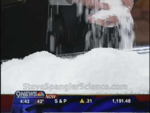 How Instant Snow Polymer Works