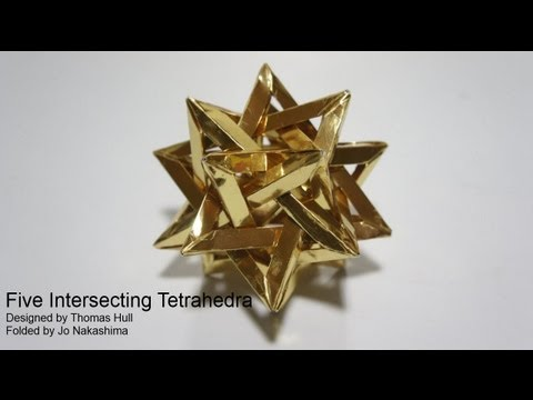 Origami Giveaway #6 - Five Intersecting Tetrahedra  (Thomas Hull)