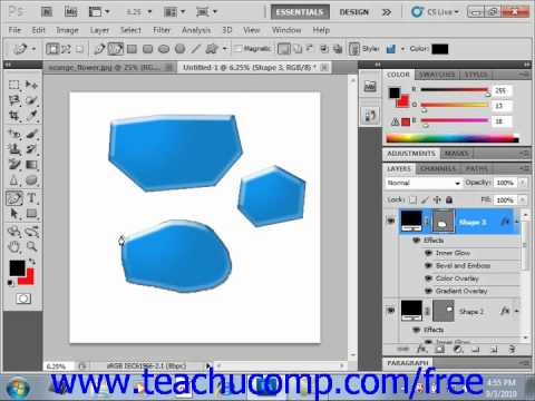 Photoshop CS5 Tutorial Using the Pen Tools Adobe Training Lesson 12.4