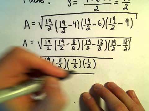 Heron's Formula, Example 1