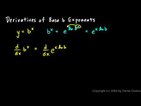 Calculus 6.4a - Derivatives of Base b Exponents