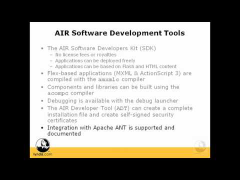 AIR: Using development tools for building AIR applications | lynda.com