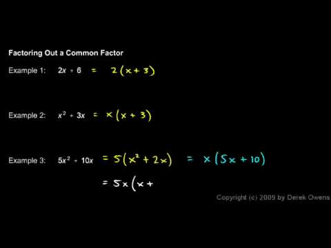 Algebra Review 4.2 - Factoring