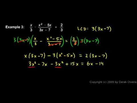 Algebra Review 9.3 - Fractional Equations