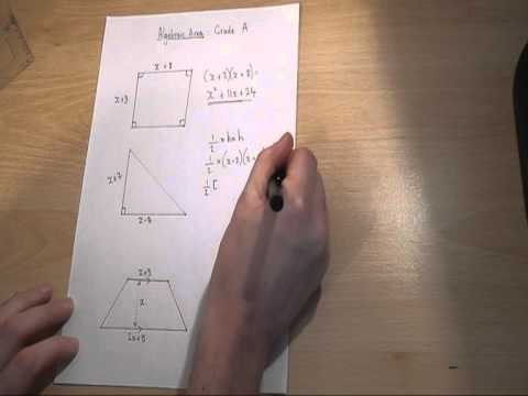 GCSE algebraic area - how to find expressions for the area of shapes