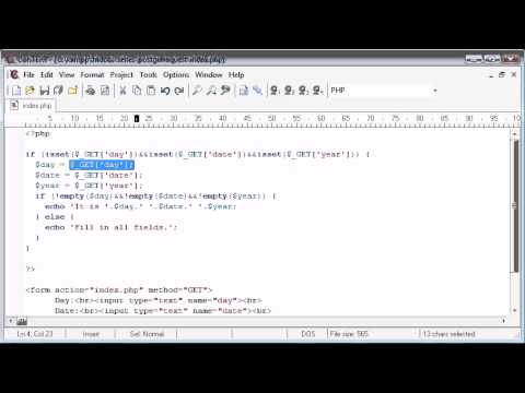Beginner PHP Tutorial - 72 - Using htmlentities for Security