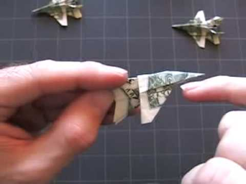Dollar Origami F-18: Steps 9-14