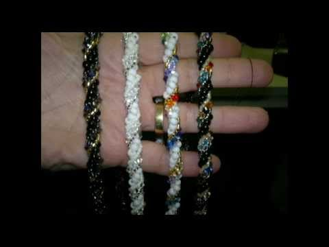 Beading4perfectionists: Tubular stitch / spiral weave beading tutorial with Swarovski and Miyuki