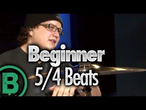 5/4 Drum Beats - Beginner Drum Lessons