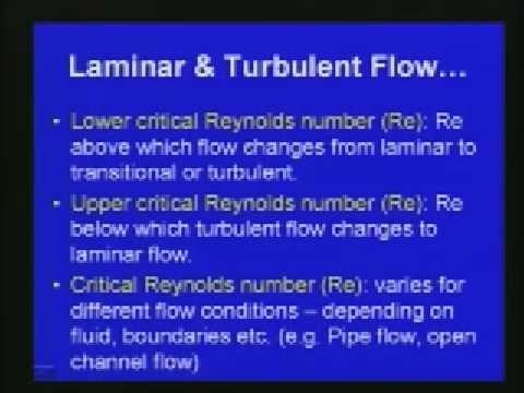 Lec-17 Laminar and Turbulent Flows