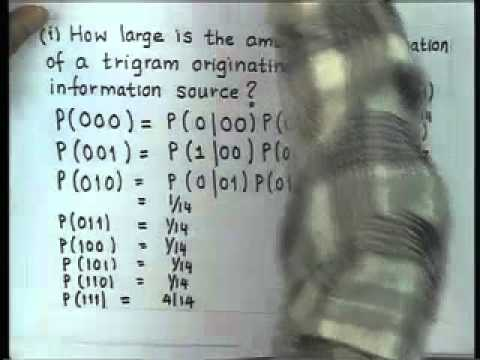 Mod-01 Lec-06 Asymptotic Properties of Entropy and Problem Solving in Entropy